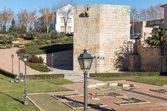 Alvar tower Fañez in Guadalajara, Spain. View Alvar Fañez tower from the park Stock Photography