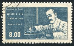 Alvaro Alvim напечатанное Бразилией Стоковые Фотографии RF