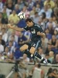 Alvaro Arbeloa. Of Real Madrid CF in action during a Spanish League match against RCD Espanyol de Barcelona  at the Estadi Cornella-El Prat on September 12 Royalty Free Stock Photos