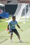 Alvaro Arbeloa at Practice. LOS ANGELES - JULY 30: Real Madrid defender Alvaro Arbeloa practices at UCLA, in Los Angeles on July 30, 2010.  Real Madrid prepares Stock Photo