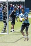 Alvaro Arbeloa at Practice. LOS ANGELES - JULY 30: Real Madrid defender Alvaro Arbeloa practices at UCLA, in Los Angeles on July 30, 2010.  Real Madrid prepares Royalty Free Stock Photography