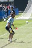 Alvaro Arbeloa at Practice. LOS ANGELES - JULY 30: Real Madrid defender Alvaro Arbeloa practices at UCLA, in Los Angeles on July 30, 2010.  Real Madrid prepares Stock Photos