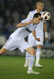 Alvaro Arbeloa of Real Madrid. During a spanish league match between Espanyol and Real Madrid at the Estadi Cornella on February 13, 2011 in Barcelona, Spain Royalty Free Stock Photos