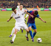 Alvaro Arbeloa of Real Madrid. Alvaro Arbeloa in action at the Spanish Cup match between FC Barcelona and Real Madrid, final score 2 - 2, on January 25, 2012, in Royalty Free Stock Photography