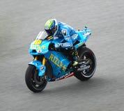 Alvaro Bautista dalla squadra di Rizla Suzuki MotoGP Fotografia Stock