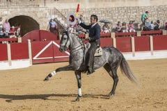 Alvaro Montes, bullfighter on horseback spanish, Ubeda, Jaen, Spain Stock Images