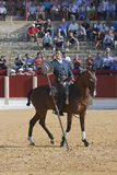 Alvaro Montes, bullfighter on horseback spanish witch garrocha Royalty Free Stock Images