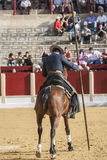 Alvaro Montes, bullfighter on horseback spanish witch garrocha ( Royalty Free Stock Photos