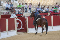 Alvaro Montes, bullfighter on horseback spanish witch garrocha ( Royalty Free Stock Photo
