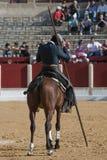 Alvaro Montes, de toréador garrocha espagnol de sorcière à cheval Photos stock