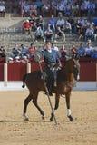 Alvaro Montes, de toréador garrocha espagnol de sorcière à cheval Images libres de droits
