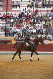 Alvaro Montes, de toréador garrocha espagnol de sorcière à cheval Image stock