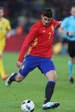 Alvaro Morata подготавливая для съемки Стоковые Фотографии RF
