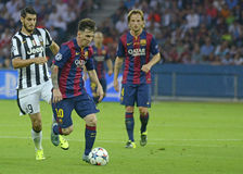 Alvaro Morata and Lionel Messi Royalty Free Stock Image