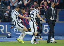 Alvaro Morata, Neymar and Massimiliano Allegri Stock Image