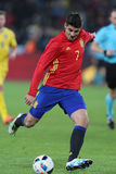 Alvaro Morata preparing for a shot Royalty Free Stock Photos