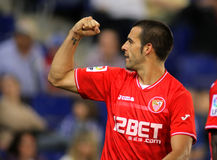 Alvaro Negredo of Sevilla FC Royalty Free Stock Photo