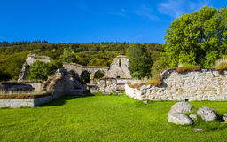 Alvastra Abbey. Ruins of Alvastra Abbey – a Cistercian monastery dating back to the first half of the 12th century Royalty Free Stock Images