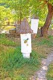 Alveari antichi alla riserva storica e culturale Fotografie Stock