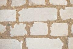 Alvenaria branca da parede de tijolo do silicato Fotografia de Stock