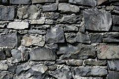 Alvenaria cinzenta velha da parede de pedra do grunge da antiguidade Fotografia de Stock Royalty Free
