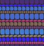 Alvenaria sem emenda azul profunda abstrata do teste padrão ilustração do vetor