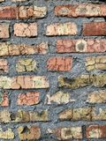 Alvenaria velha da parede de tijolo fotografia de stock royalty free