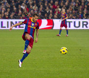 Alves (FC Barcelona) Imagen de archivo libre de regalías