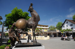 alvez centre Julio nowożytna rzeźba Vaduz Obrazy Stock