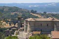 Alviano Úmbria, Itália, o castelo medieval Imagens de Stock Royalty Free