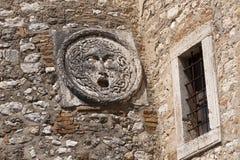 alvianoslottdetalj italy gammala umbria Royaltyfri Fotografi