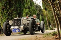Alvis AL gris 4 5 participa al GP Nuvolari Foto de archivo libre de regalías