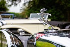 Alvis Car silver hood ornament - running Indian royalty free stock photos