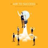 Alvo ao sucesso Fotografia de Stock Royalty Free
