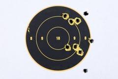 Alvo com buracos de bala Foto de Stock Royalty Free