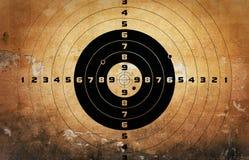 Alvo com buracos de bala Fotos de Stock