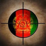Alvo da bandeira de Afgan Imagens de Stock