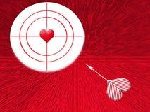 Alvo do amor ilustração stock