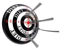 Alvo do conceito da dieta com forquilhas ilustração do vetor