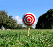 Alvo do conceito do golfe Imagem de Stock Royalty Free