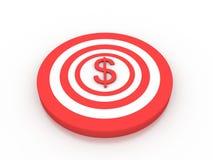Alvo do dólar Fotografia de Stock Royalty Free