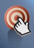 Alvo do Internet Imagem de Stock
