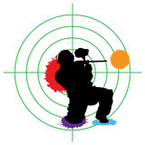 Alvo do Paintball Fotografia de Stock Royalty Free