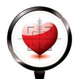Alvo do riffle do coração do amor ilustração stock