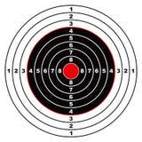 Alvo do rifle ilustração stock