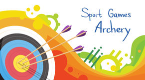 Alvo do tiro ao arco com setas Archer Sport Game Competition Foto de Stock