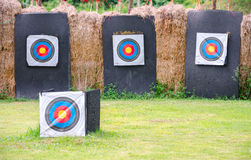 Alvo do tiro do tiro ao arco Imagens de Stock
