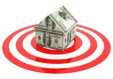 Alvo dos bens imobiliários Imagens de Stock