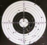 Alvo e furos da pistola pneumática Fotos de Stock