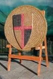 Alvo medieval do tiro ao arco Foto de Stock